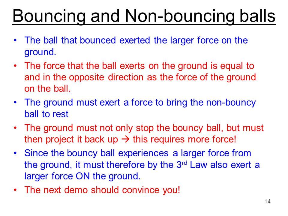 Bouncing and Non-bouncing balls