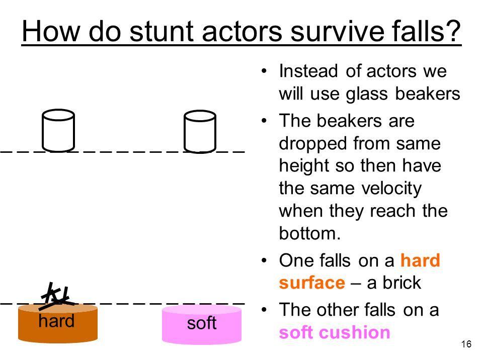 How do stunt actors survive falls