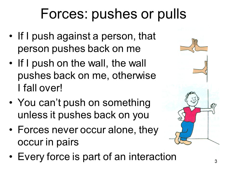 Forces: pushes or pulls