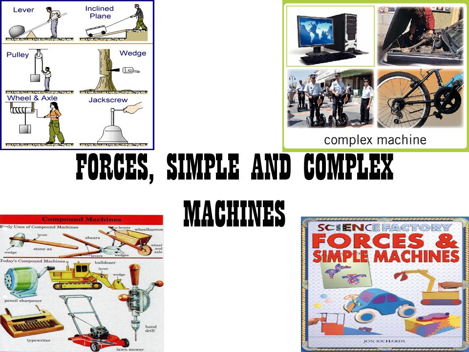 FORCES, SIMPLE AND COMPLEX MACHINES