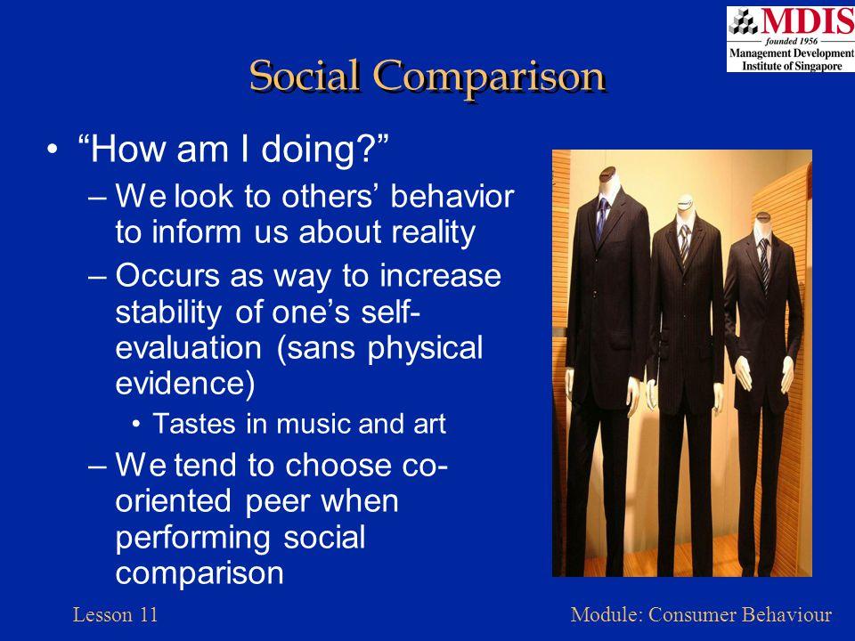 Social Comparison How am I doing