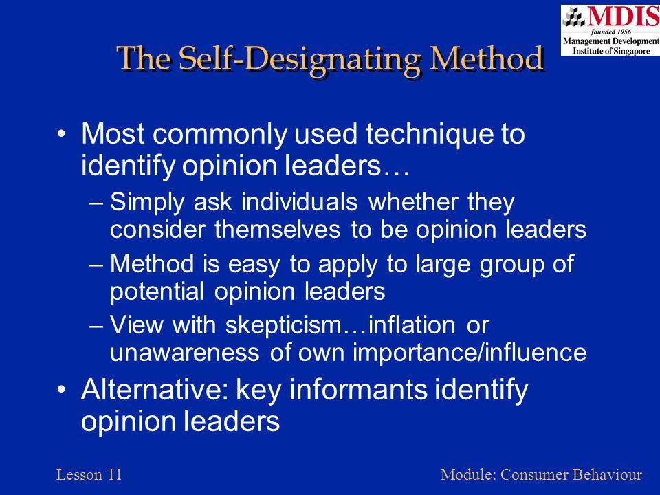 The Self-Designating Method