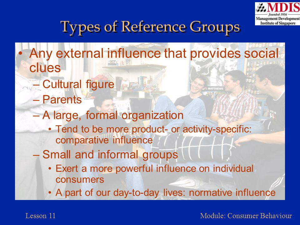 Types of Reference Groups