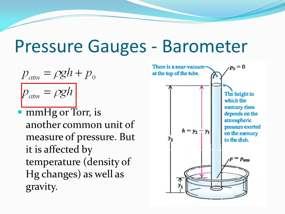 Pressure Gauges - Barometer