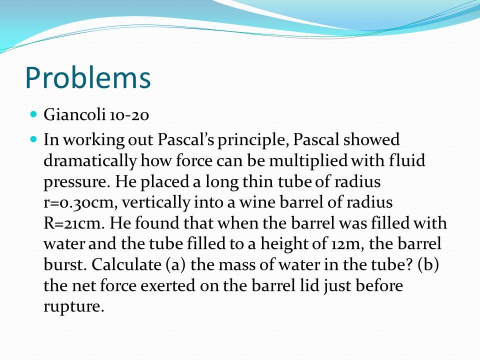 Problems Giancoli 10-20.