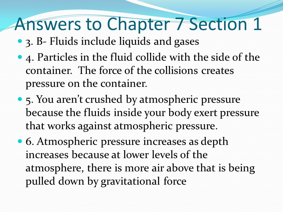 Answers to Chapter 7 Section 1