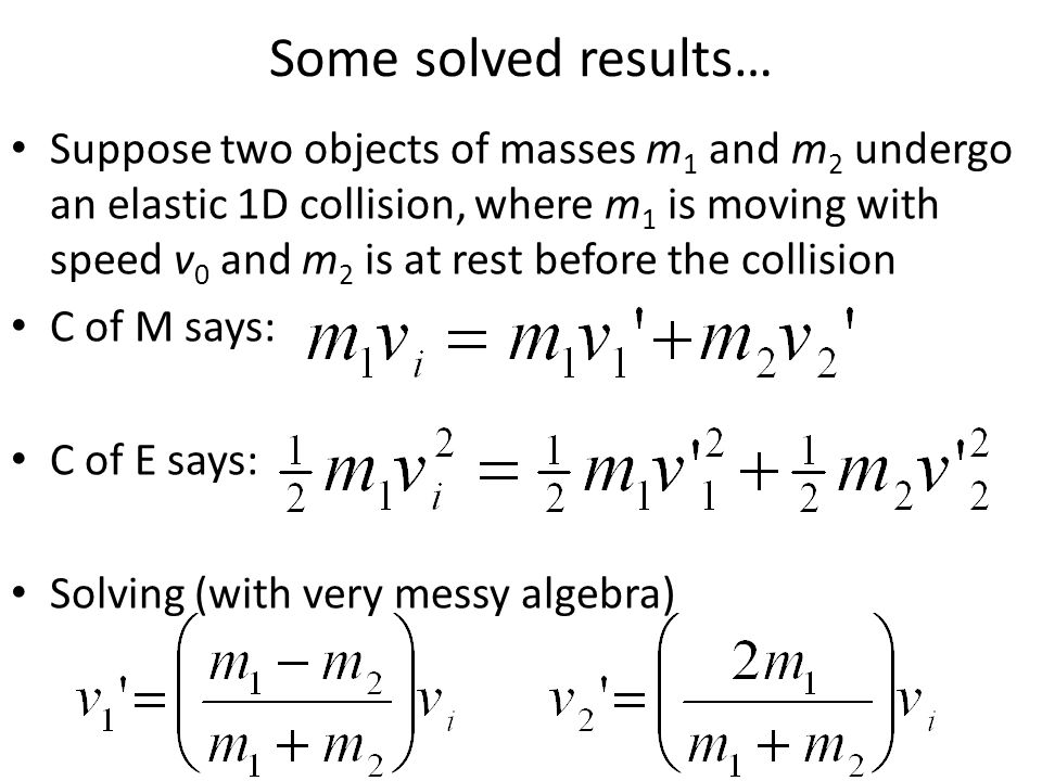 Some solved results…
