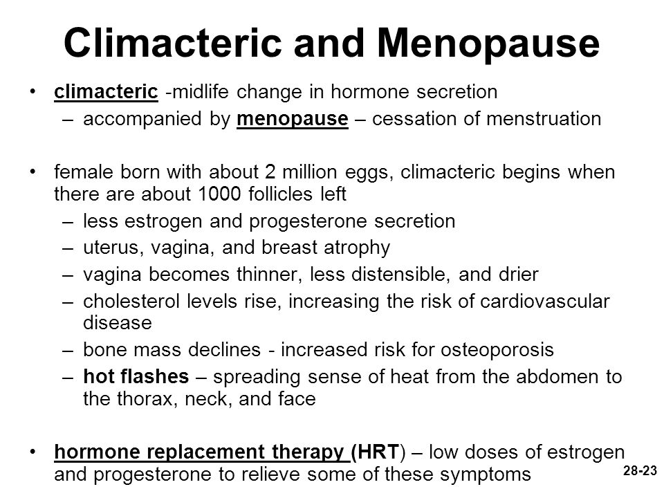 Climacteric and Menopause
