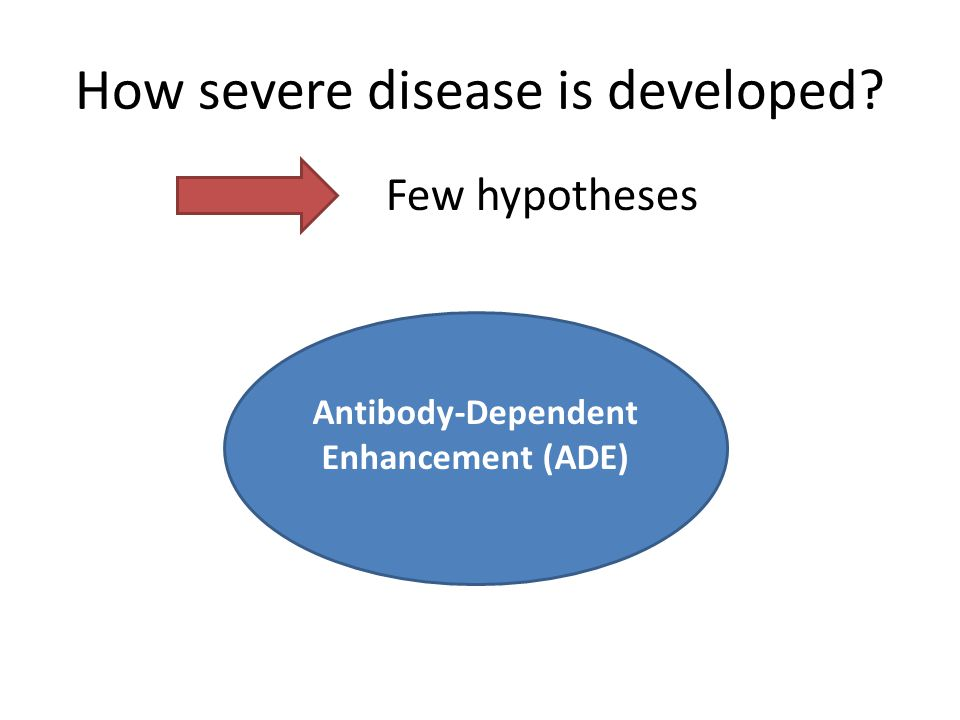 How severe disease is developed