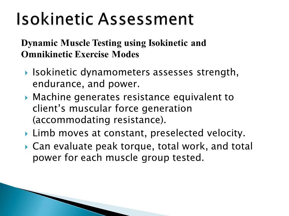 Isokinetic Assessment
