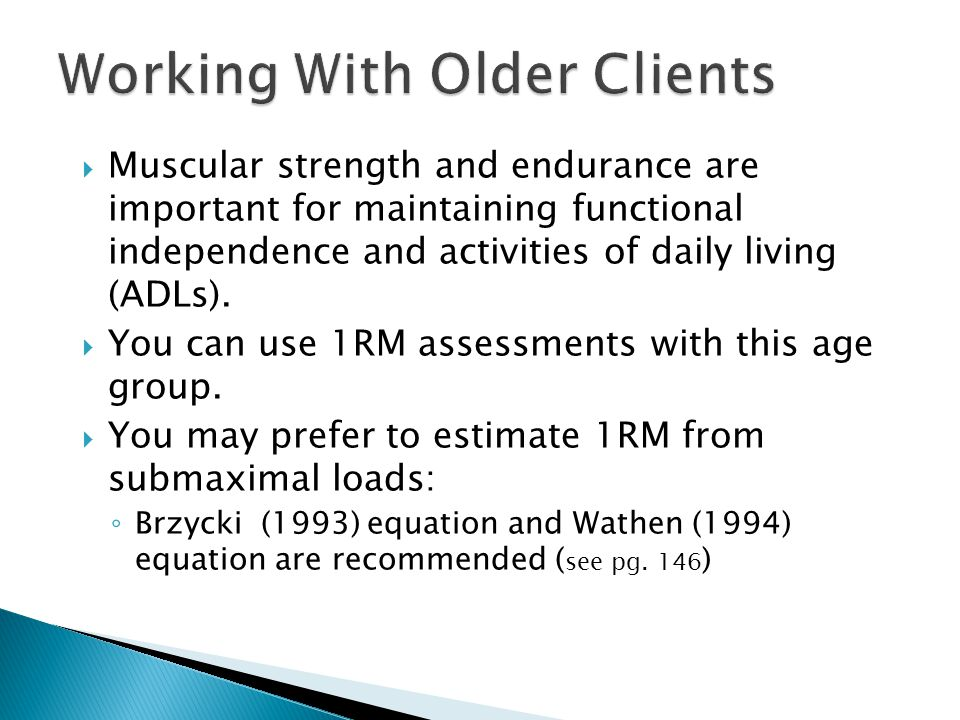 Working With Older Clients
