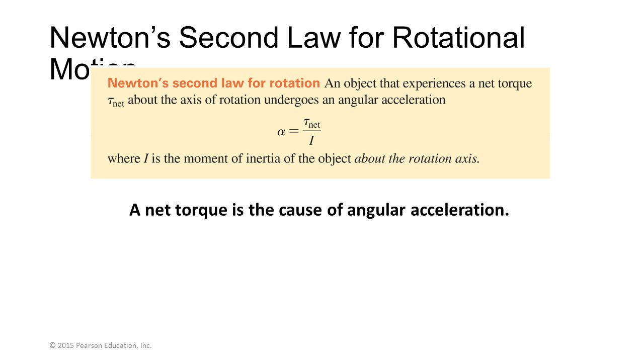 Newton's Second Law for Rotational Motion