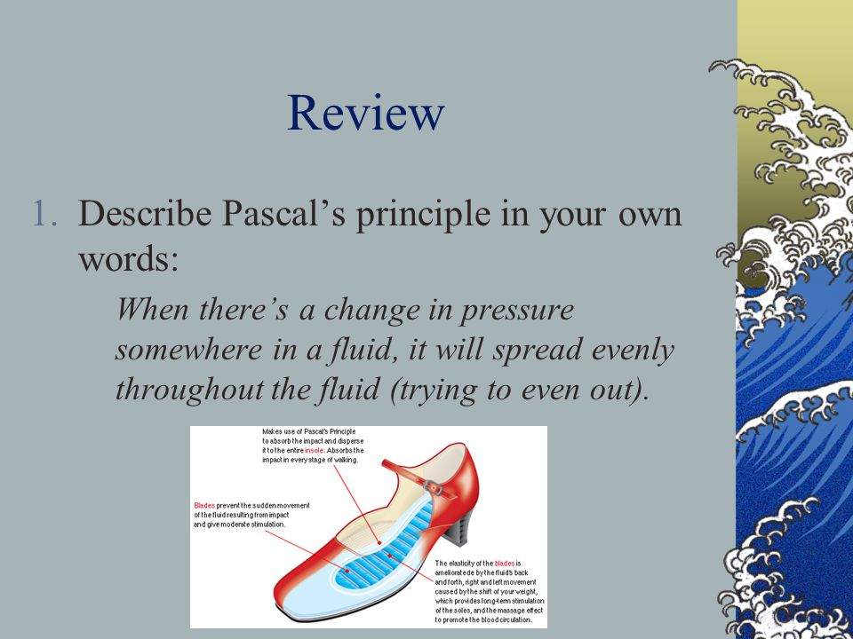 Review Describe Pascal's principle in your own words: