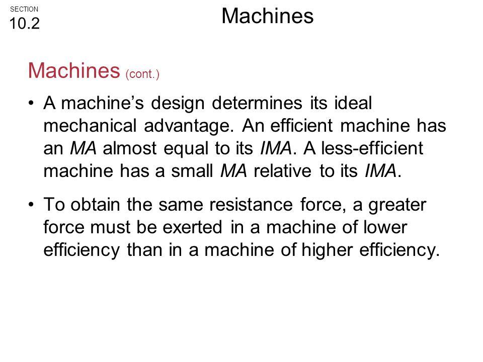 Machines Machines (cont.)