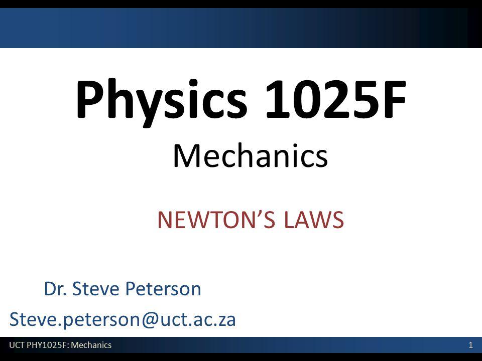 Dr. Steve Peterson Steve.peterson@uct.ac.za