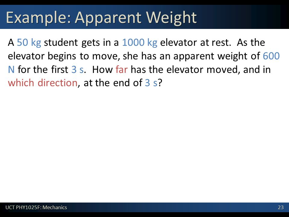 Example: Apparent Weight