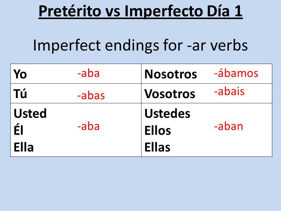 Pretérito vs Imperfecto Día 1