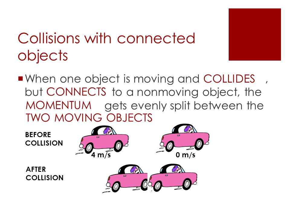 Collisions with connected objects