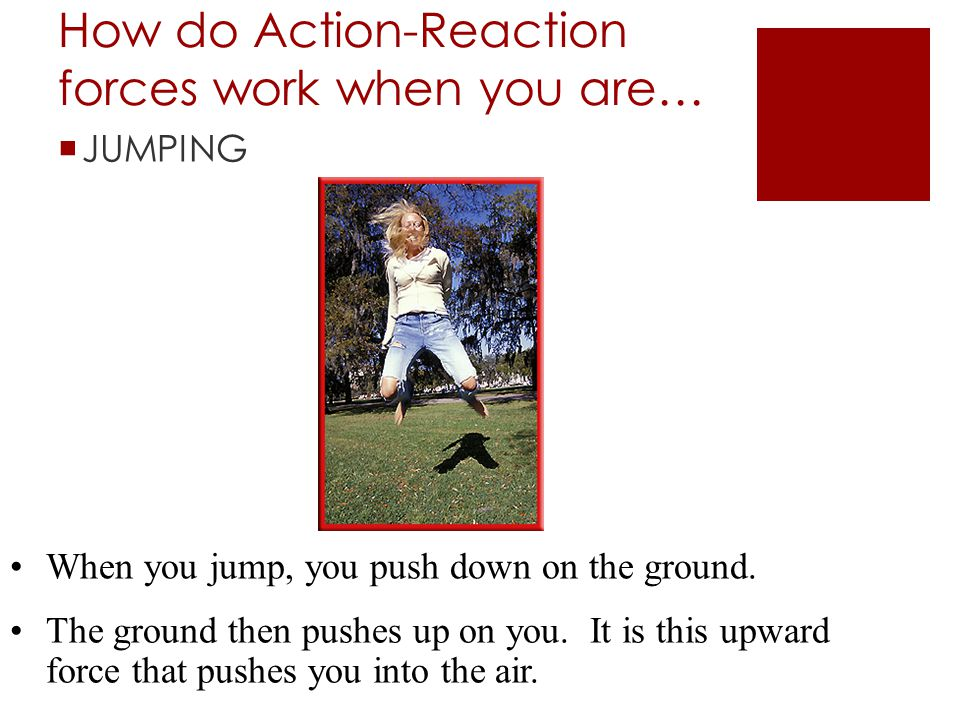 How do Action-Reaction forces work when you are…