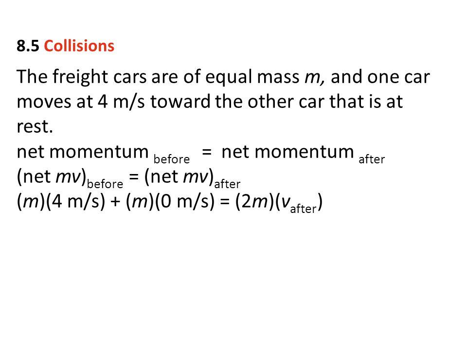 net momentum before = net momentum after