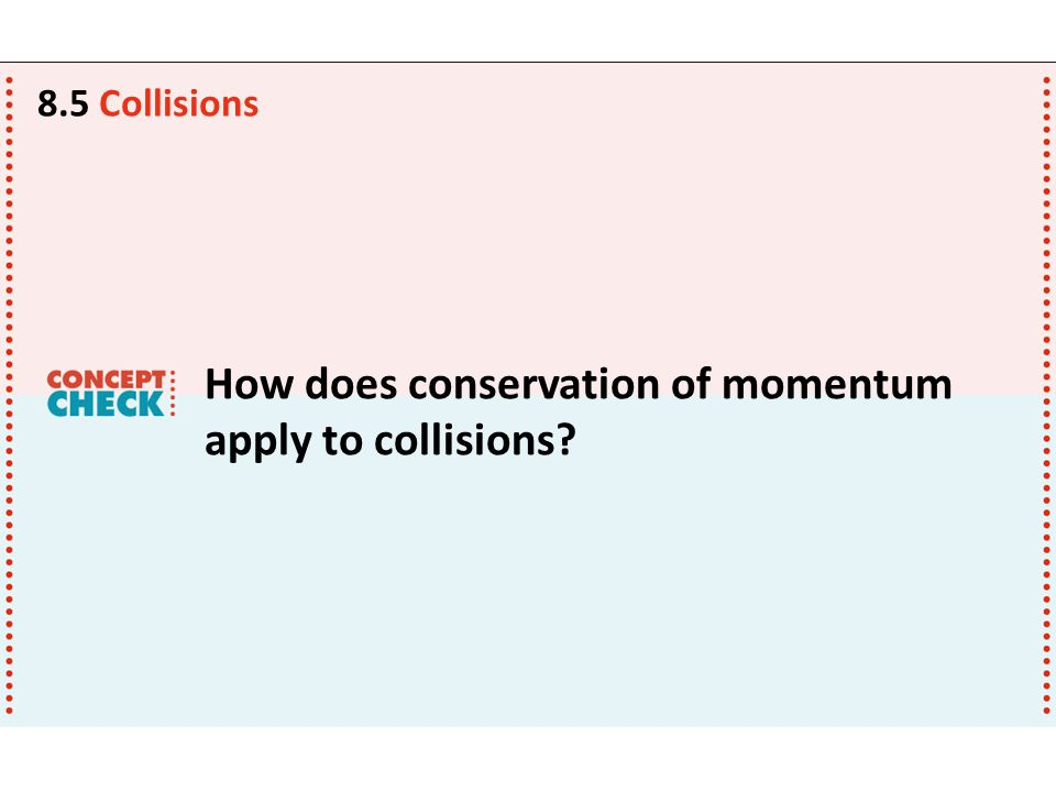 How does conservation of momentum apply to collisions