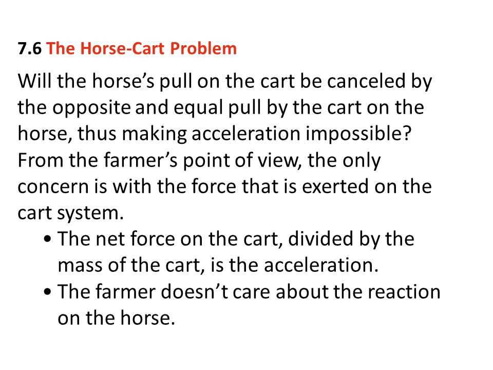 The farmer doesn't care about the reaction on the horse.
