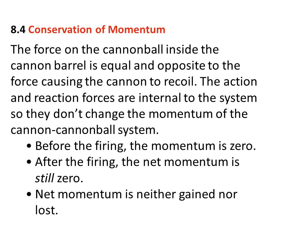 Before the firing, the momentum is zero.