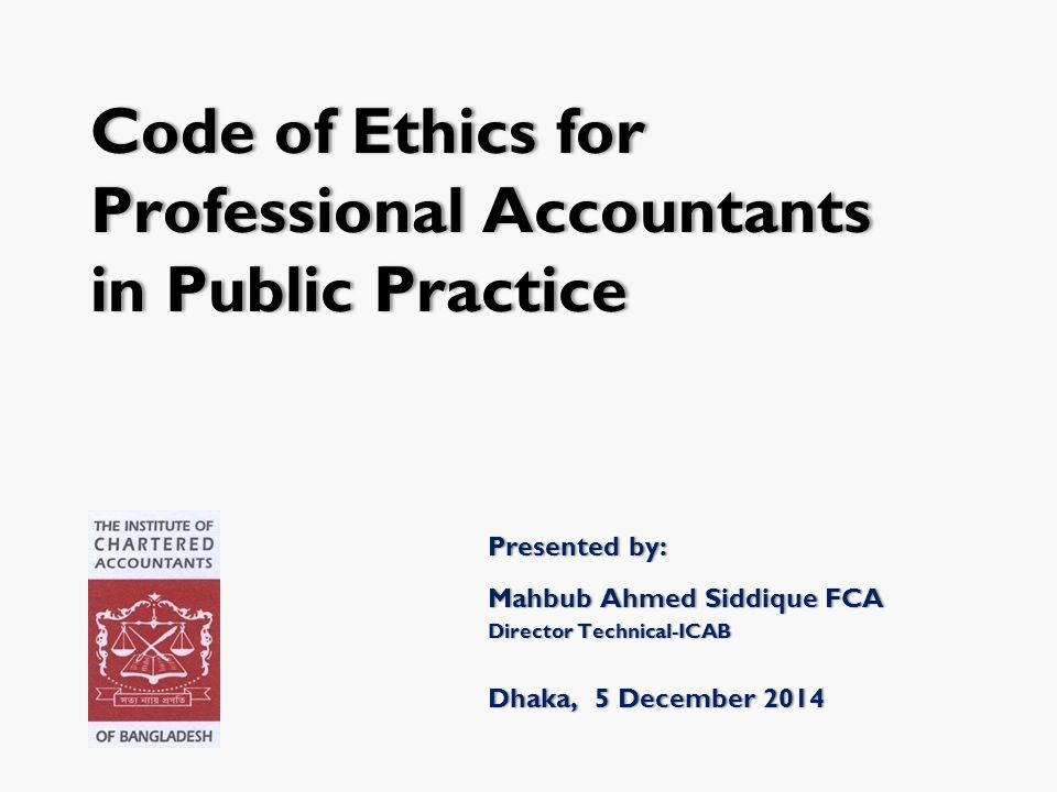 Professional Accountants in Public Practice