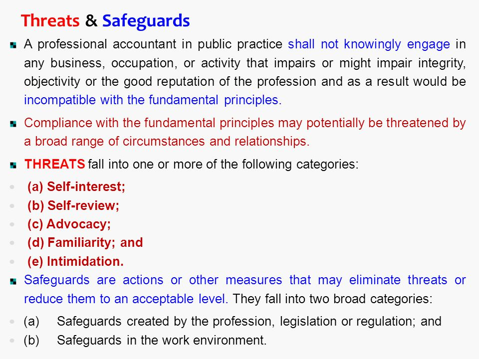 Threats & Safeguards