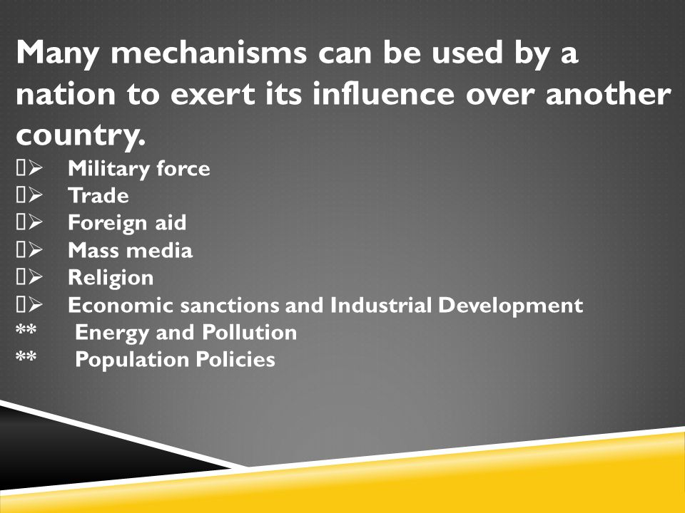 Many mechanisms can be used by a