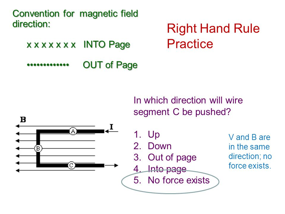 Right Hand Rule Practice