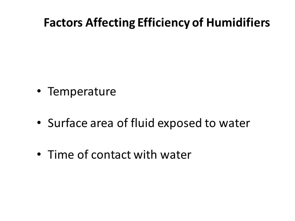 Factors Affecting Efficiency of Humidifiers