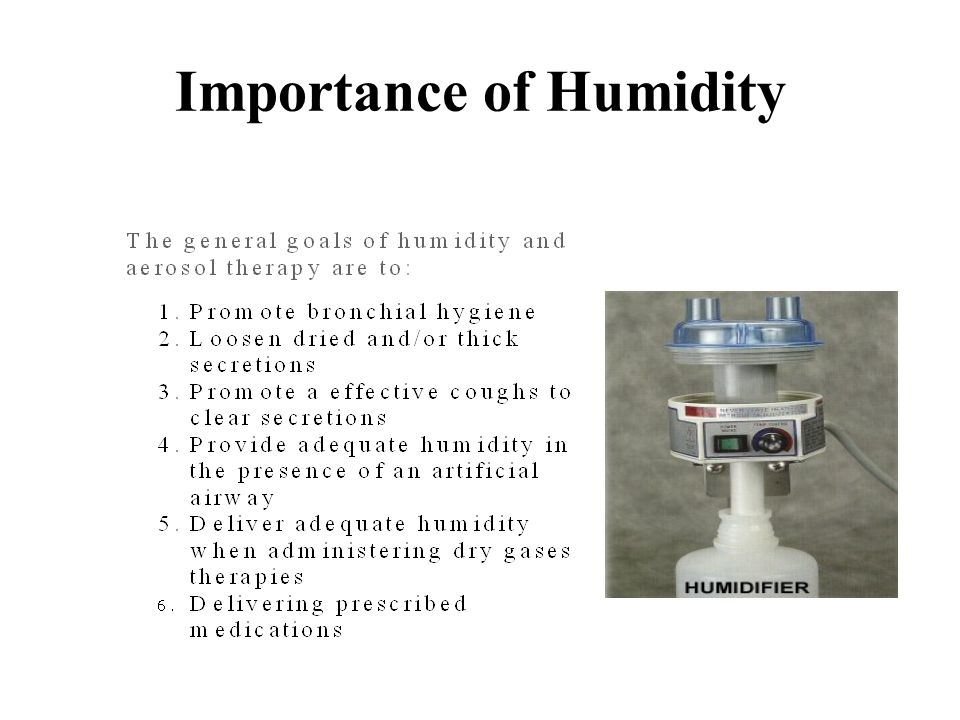 Importance of Humidity