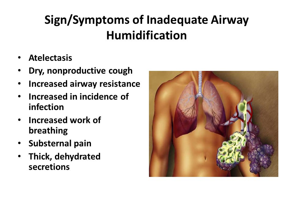 Sign/Symptoms of Inadequate Airway Humidification