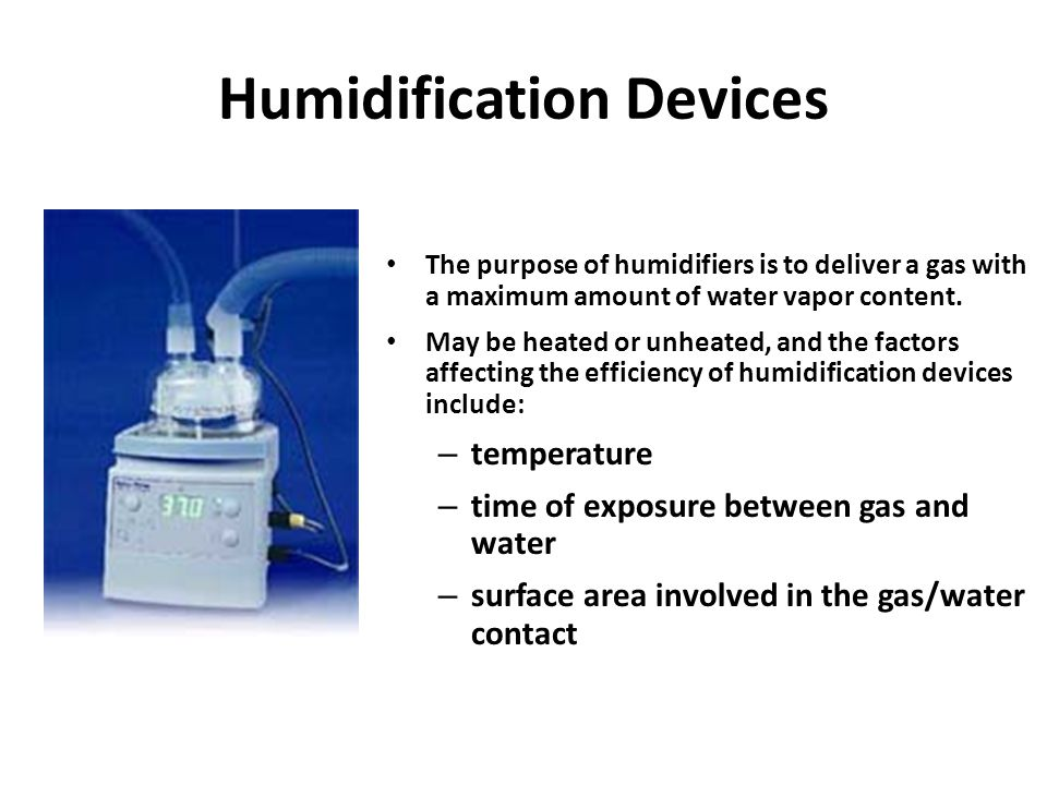 Humidification Devices