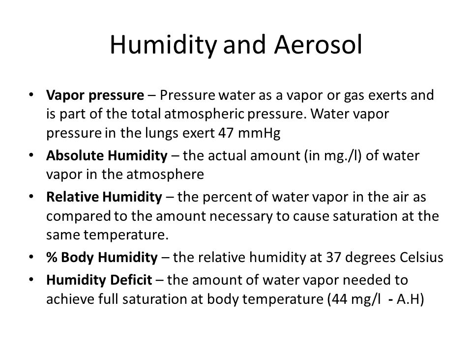 Humidity and Aerosol