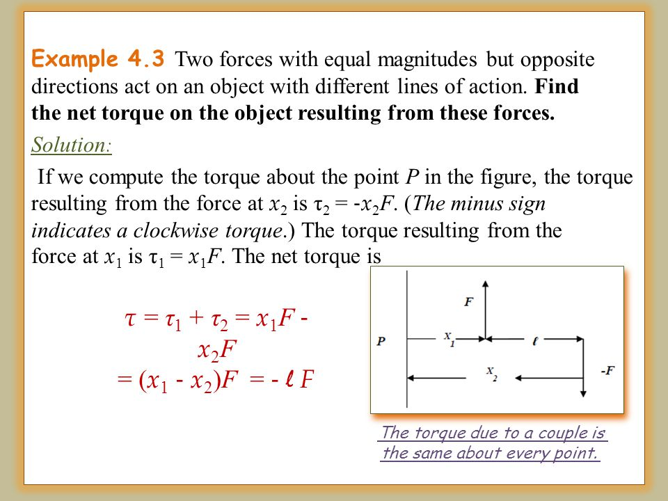 The torque due to a couple is the same about every point.