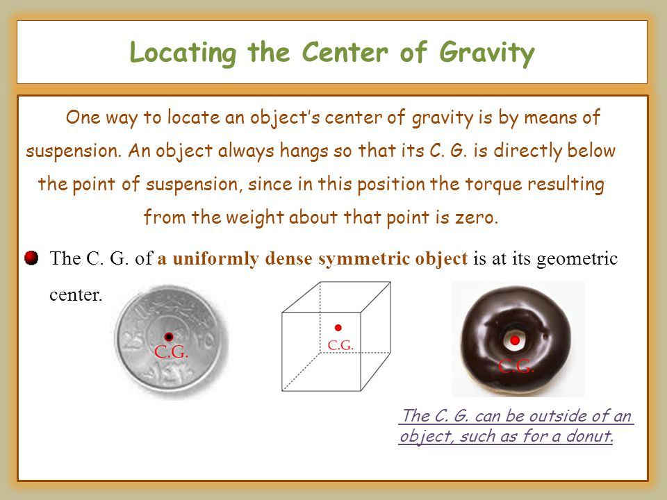Locating the Center of Gravity