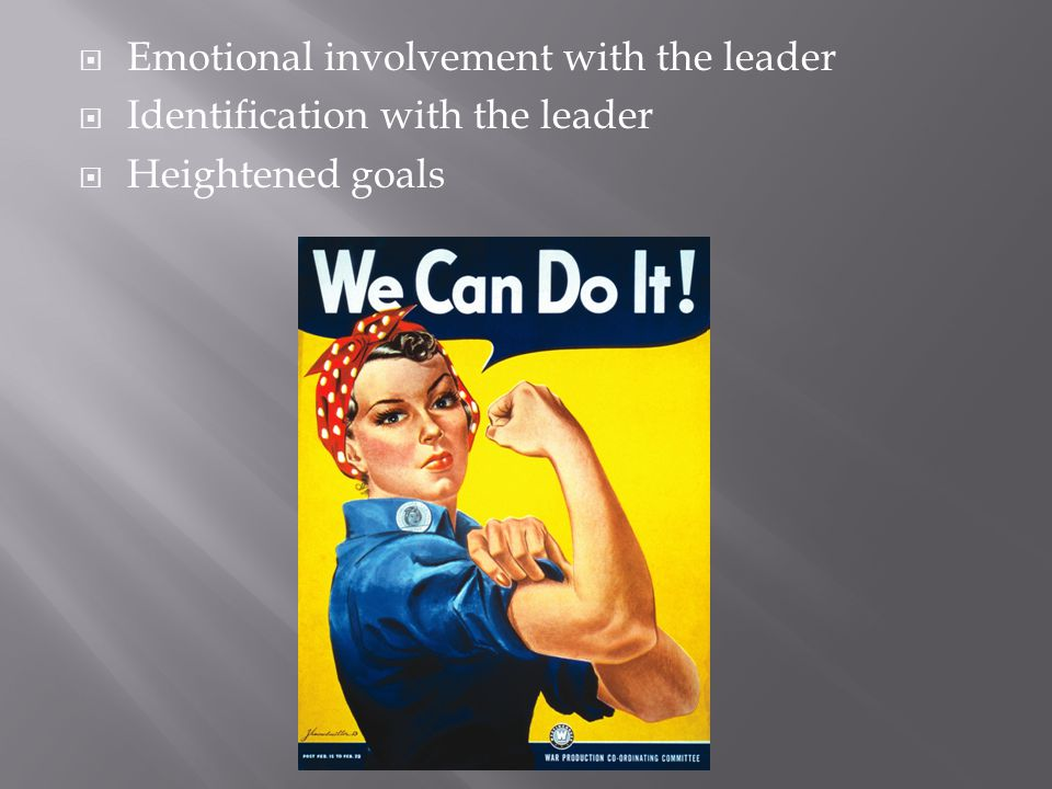 Emotional involvement with the leader