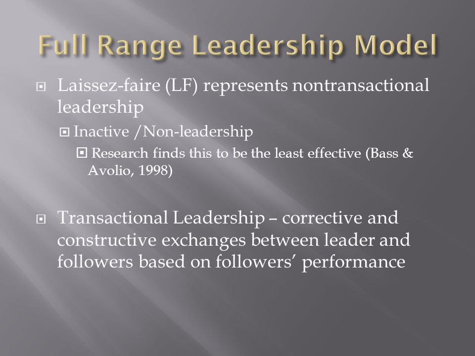 Full Range Leadership Model