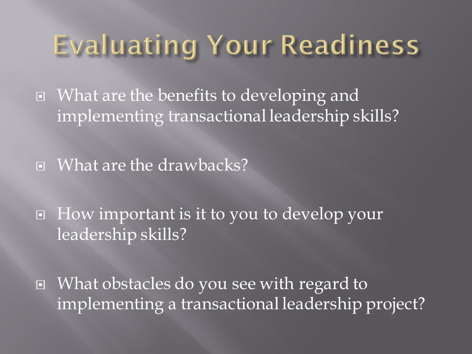 Evaluating Your Readiness