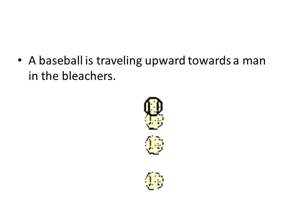 A baseball is traveling upward towards a man in the bleachers.
