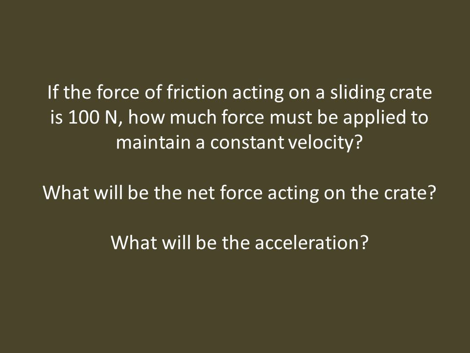 What will be the net force acting on the crate
