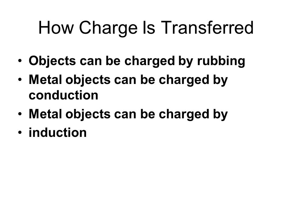 How Charge Is Transferred