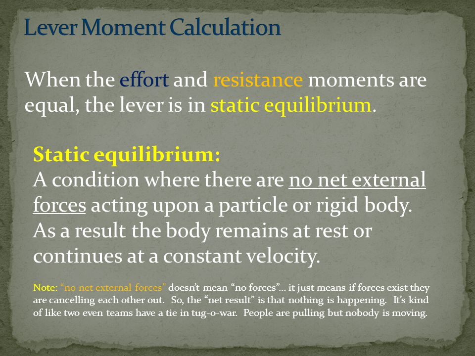 Lever Moment Calculation