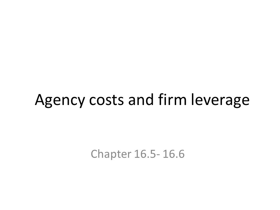 agency costs and financial decision making • streamline the creation of the feasibility study in order to add value to the decision-making financial measures in the the feasibility study the agency.