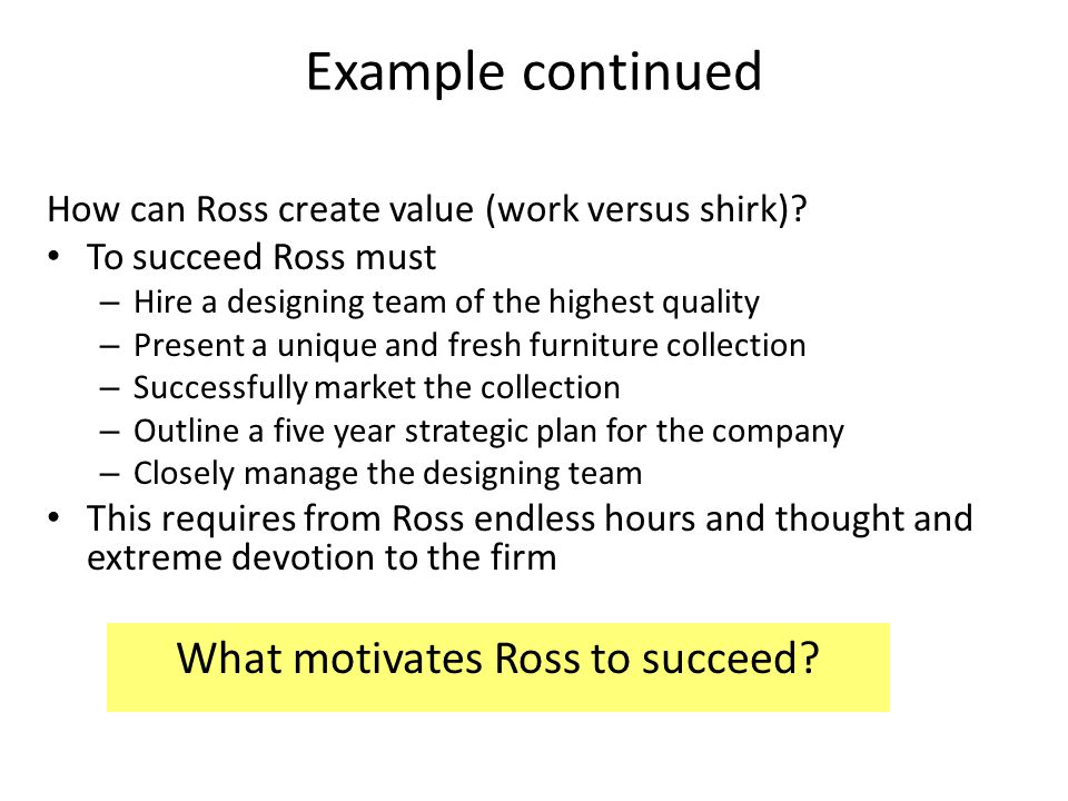 What motivates Ross to succeed