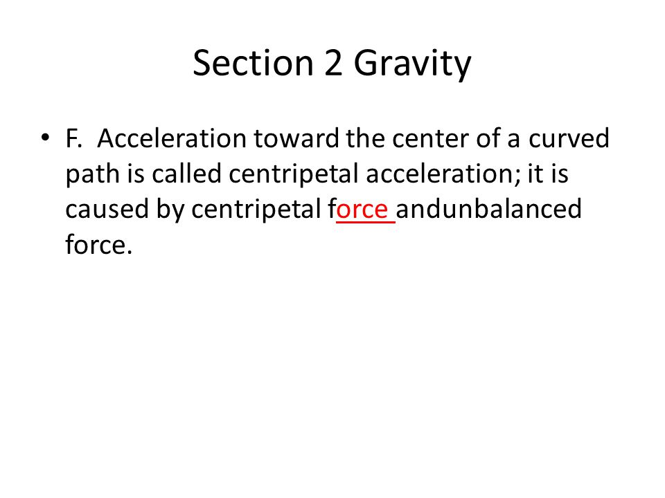 Section 2 Gravity