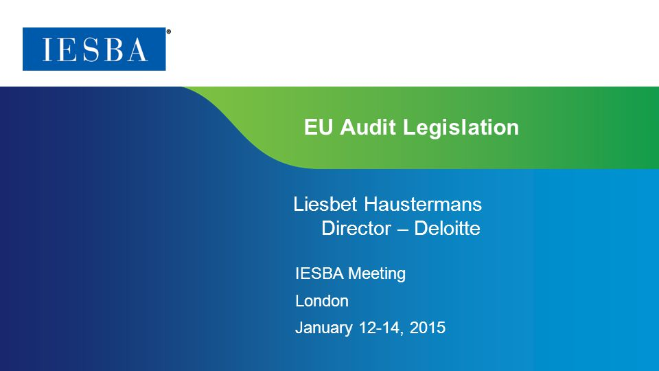 IESBA Meeting London January 12-14, 2015