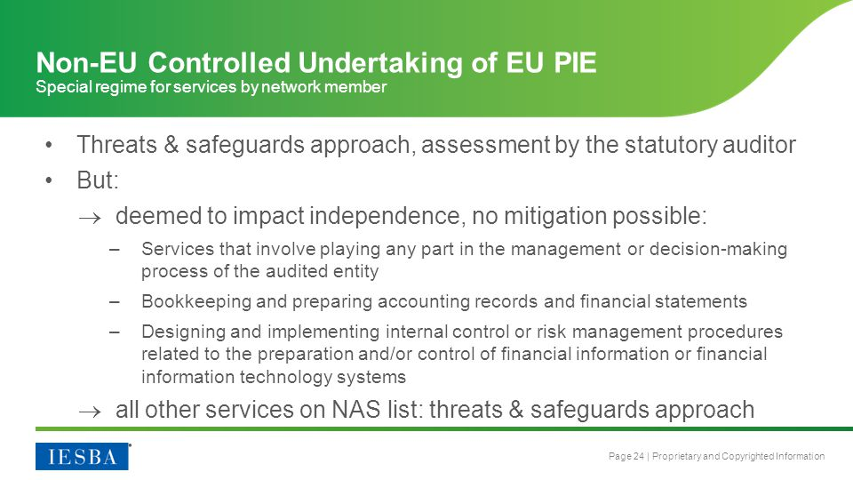 Non-EU Controlled Undertaking of EU PIE